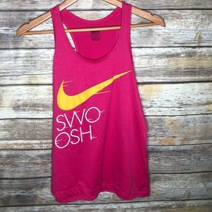 Nike swoosh tank top dri-fit racer back workout M